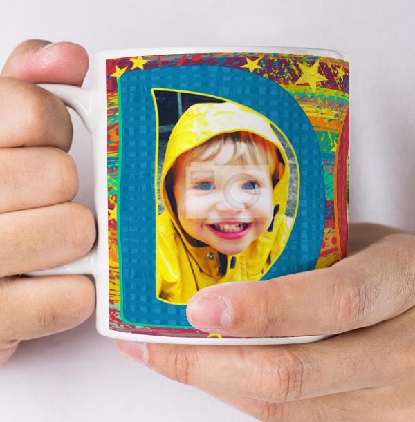 Dad Rainbow Multi Photo Mug