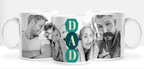 Dad Shine Bright Photo Mug
