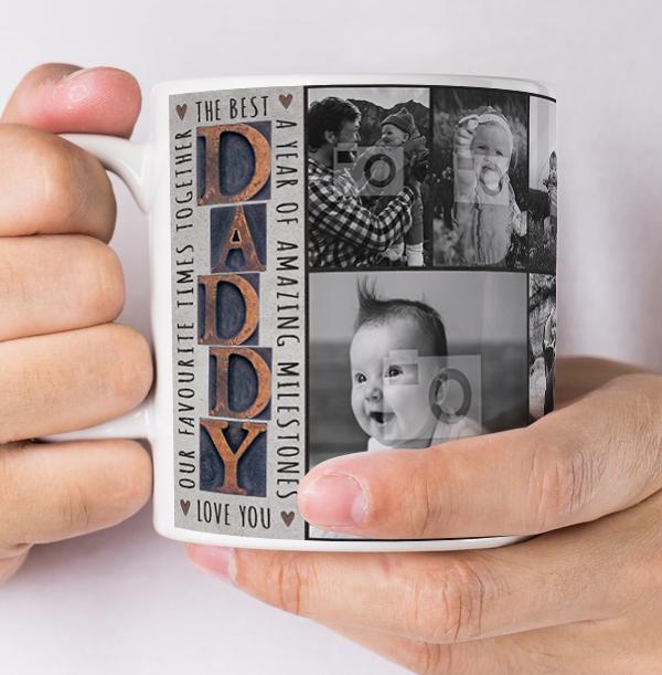 The Best Daddy Multi Photo Upload Mug