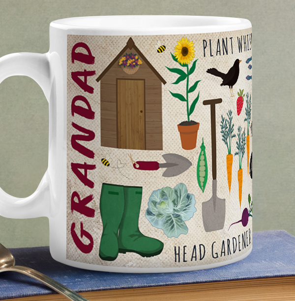 Grandad The Garden King Personalised Mug