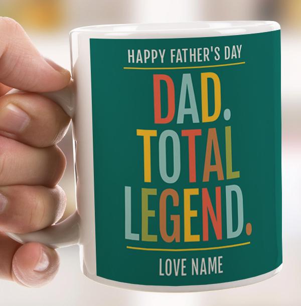 Dad, Total Legend Personalised Mug