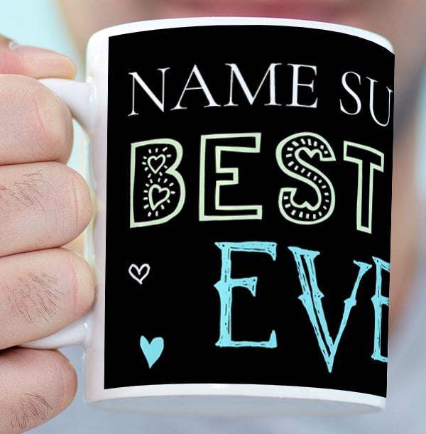 Wonder Best Dad Photo Mug