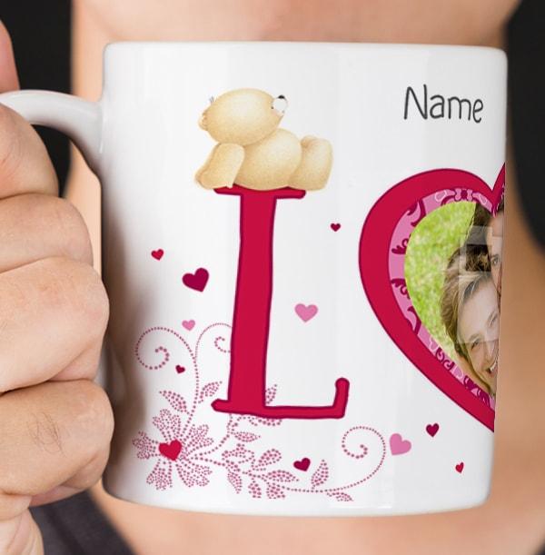 Forever Friends Valentine Love Personalised Mug