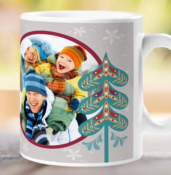 Christmas Trees Personalised Mug