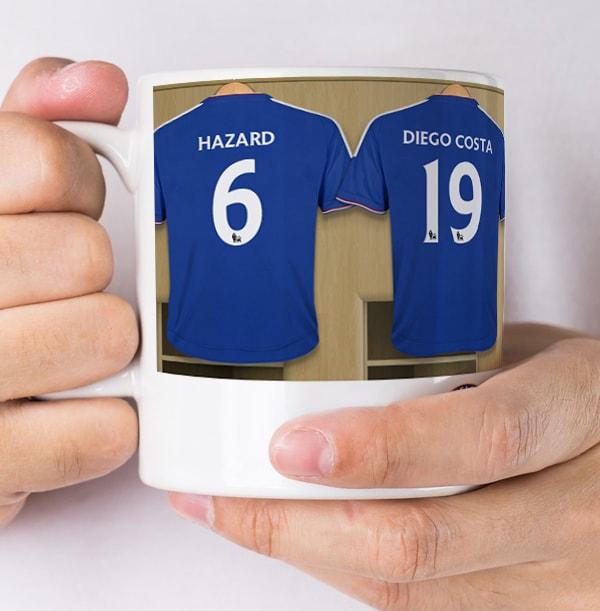 Chelsea Dressing Room Football Mug - UR-In the Paper