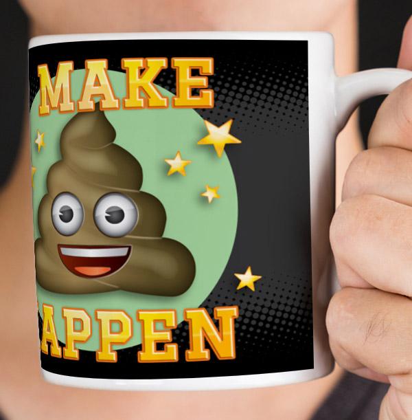 Emoji Personalised Mug - I make Poo Happen