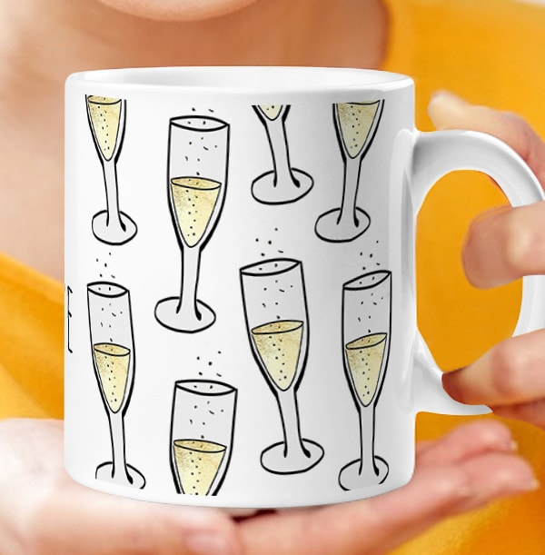 Champagne Flute Personalised Mug