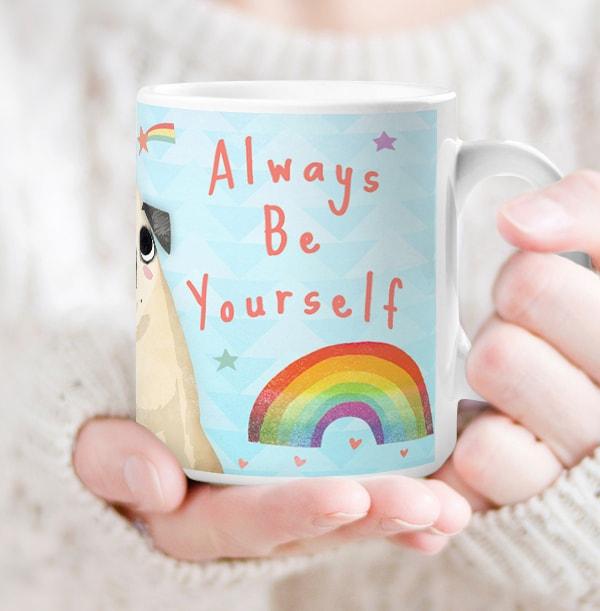 Always Be Yourself Pug Photo Mug