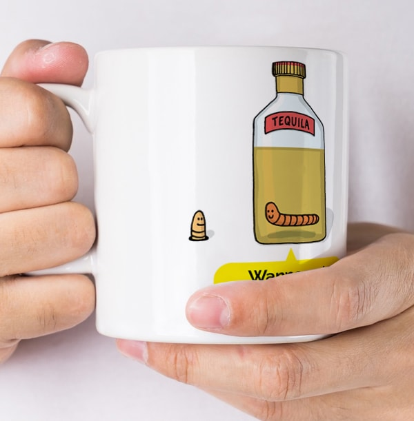 Tequila Worm Personalised Mug