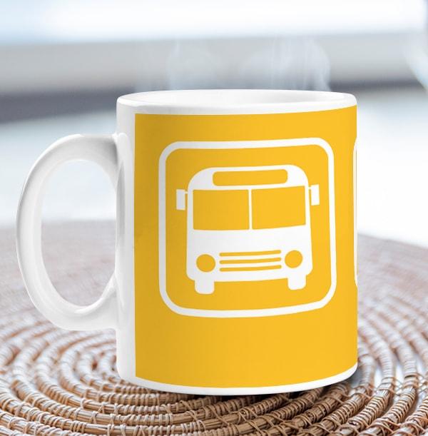 Prize Anchor Icon Mug - Yellow