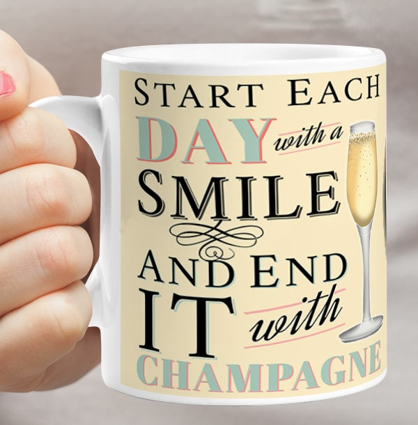 Personalised Champagne Mug - End Each Day