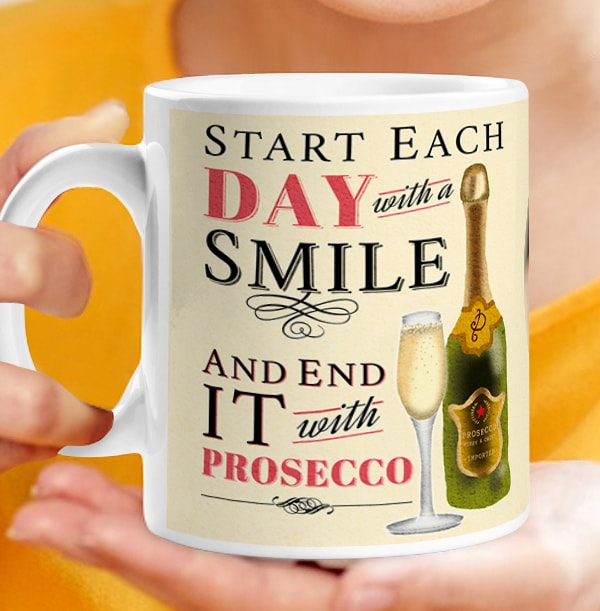 Personalised Prosecco Mug - End Each Day