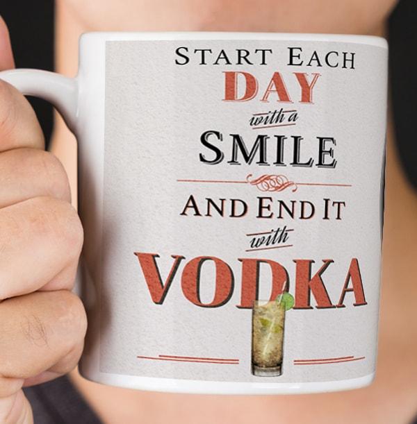 Personalised Vodka Mug - End Each Day