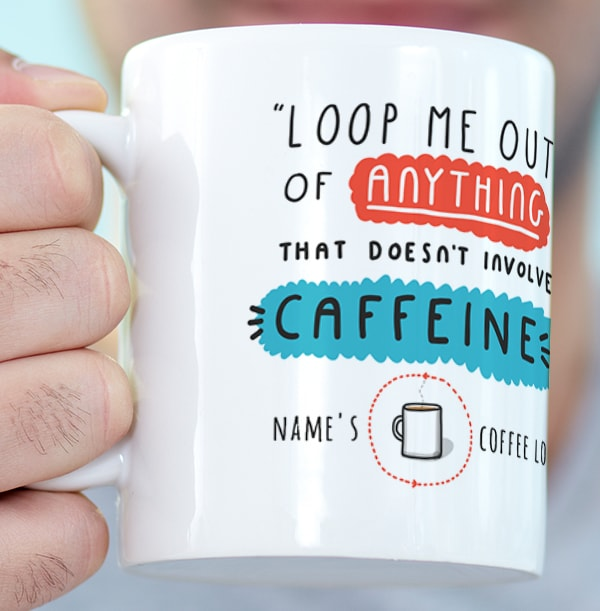 Caffeine Loop Personalised Mug