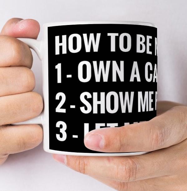 Be My Friend Own A Cat Mug