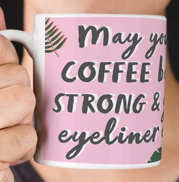 Coffee & Eyeliner Photo Mug