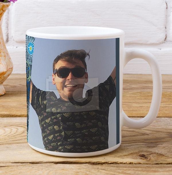 21 Years Loved Male Photo Mug