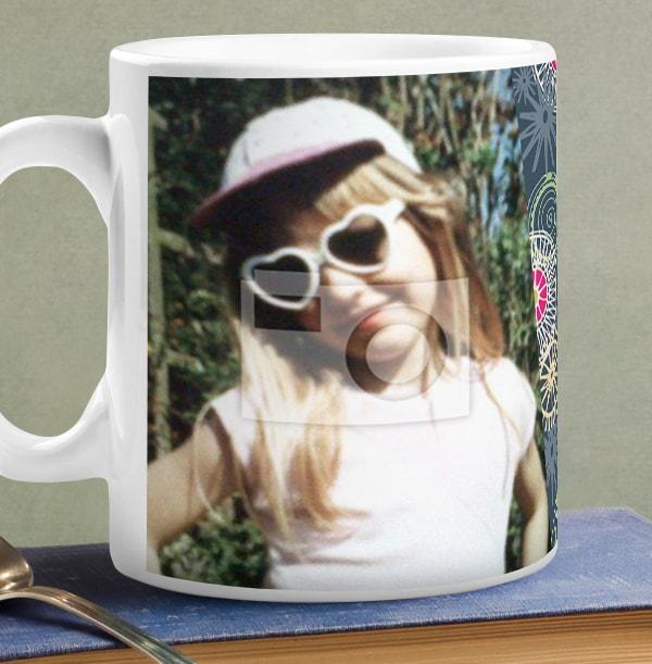 40 Years Loved Female Photo Mug