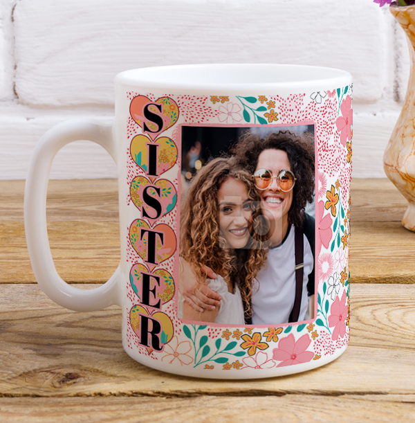 Sister Photo Birthday Mug