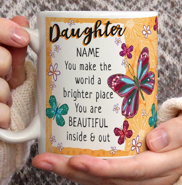 Daughter Personalised Birthday Mug
