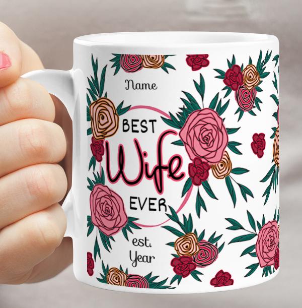 Wife Personalised Birthday Mug