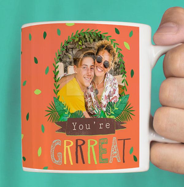 Go get 'em Tiger Photo Personalised Mug