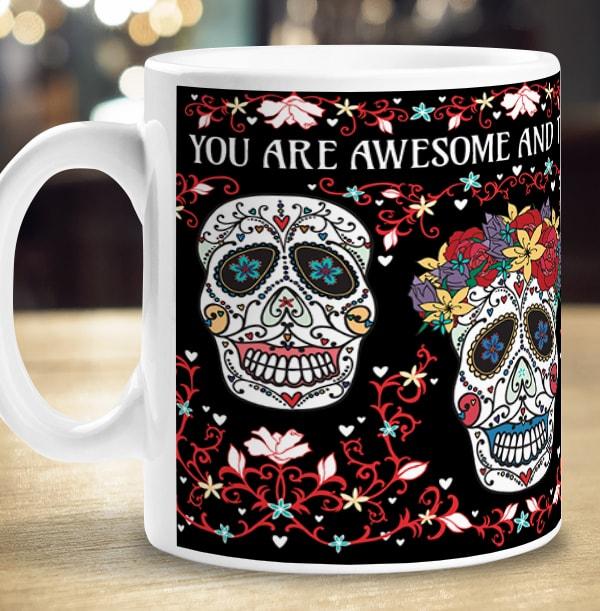 Personalised Mug - Sugar Skull Day of the Dead