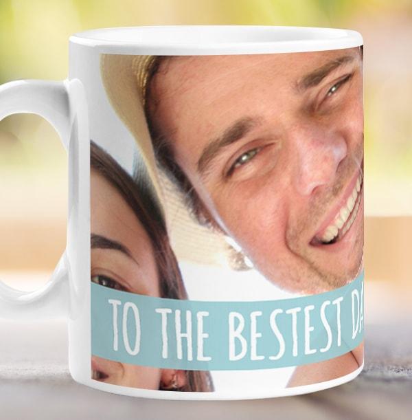 Bestest Daddy Photo Upload Mug
