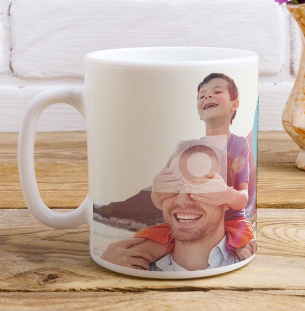 Blue Heart Daddy Personalised Mug