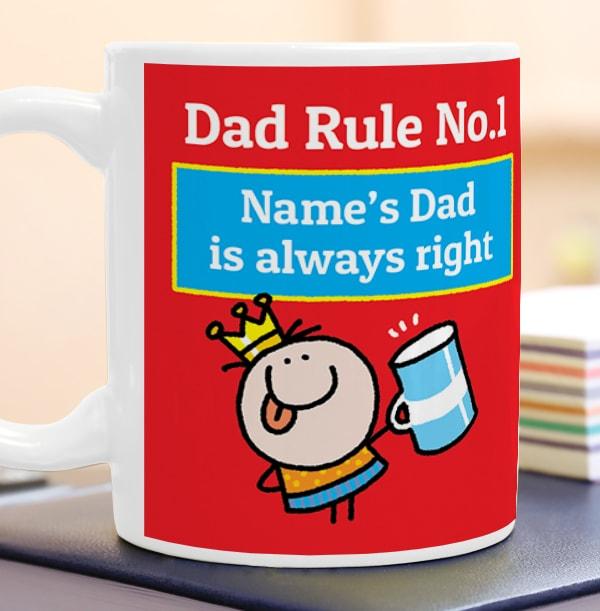 Dad Rule No 1 Personalised Mug - Lemon Squeezy