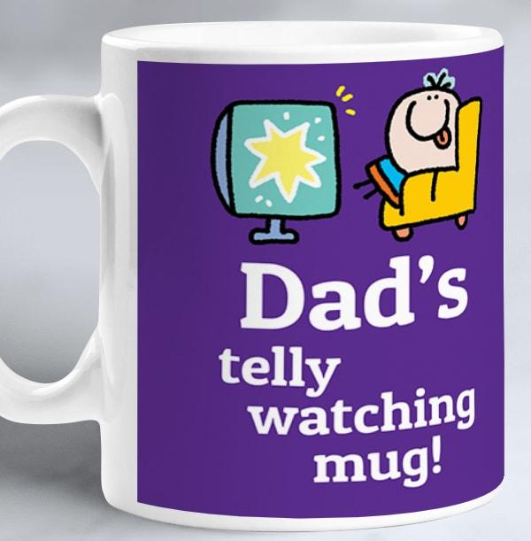 Dad's Telly Watching Mug - Lemon Squeezy