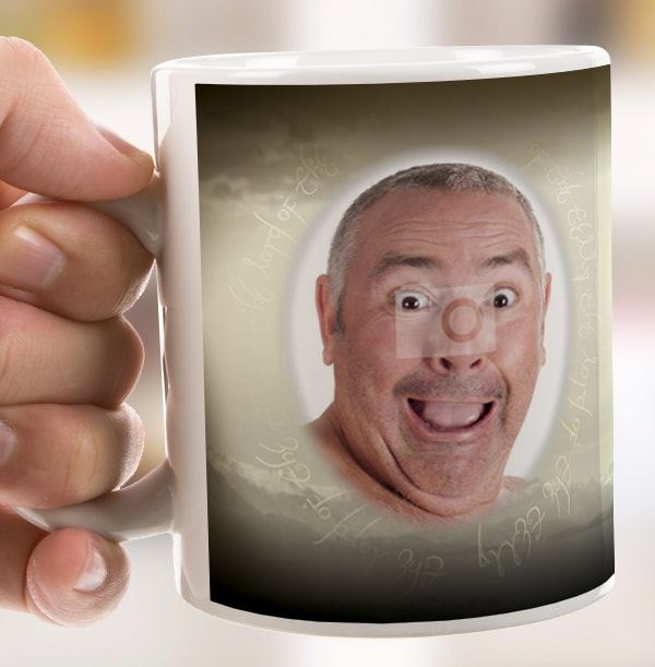 Personalised Mug - Photo Upload Movie Spoof Lord Of The Telly