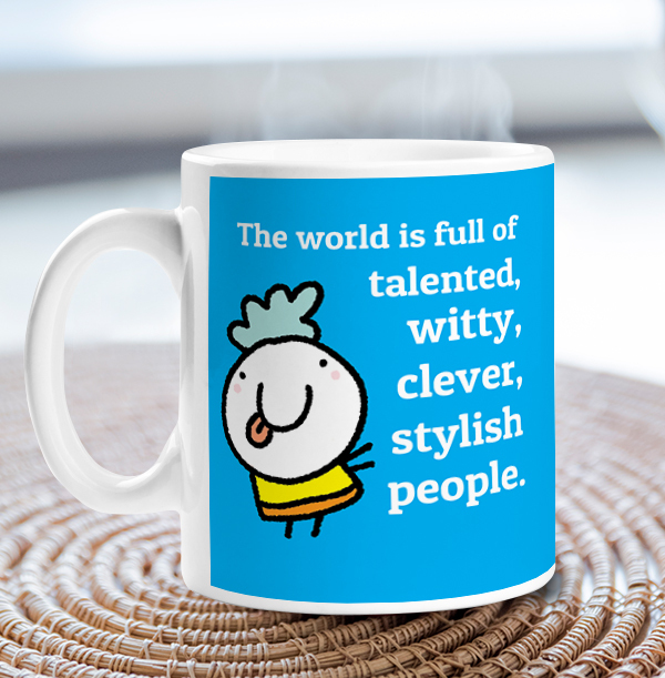 Clever, Talented & Witty Personalised Mug