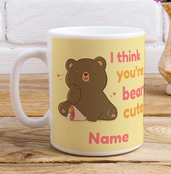 Beary Cute Personalised Mug