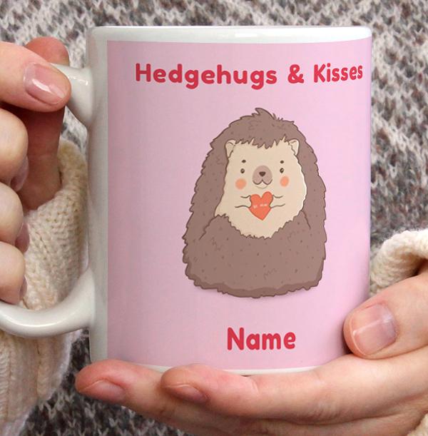 Hedgehugs and Kisses Personalised Mug