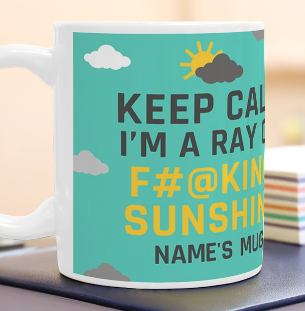 Ray Of Sunshine Personalised Mug