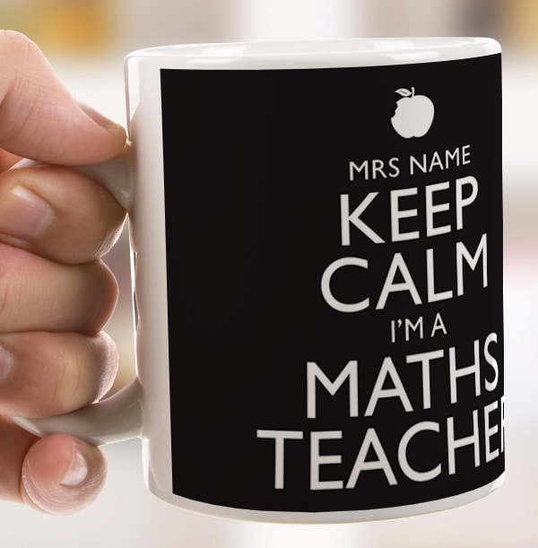 Personalised Mug - Keep Calm Maths Teacher