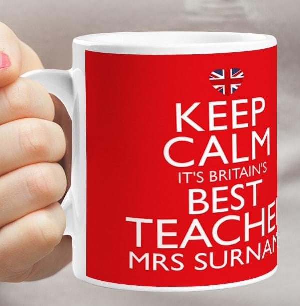 Best Teacher Keep Calm Mug