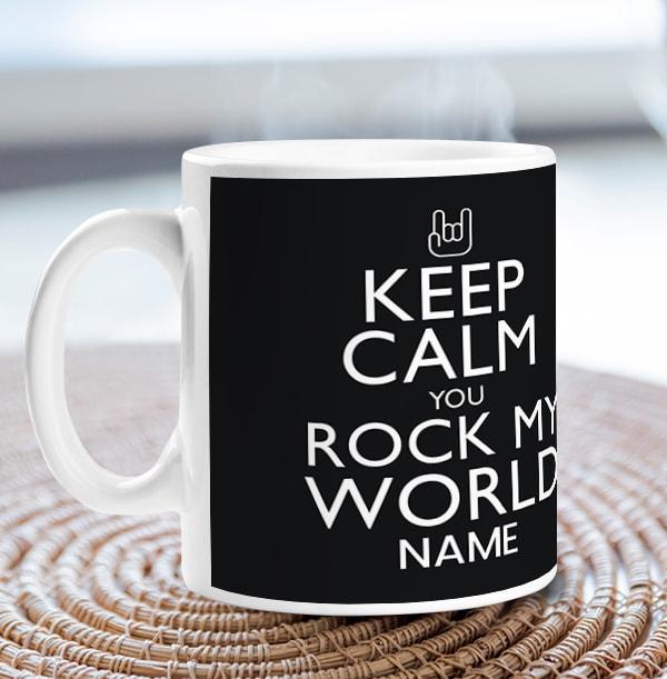 Keep Calm Rock My World Mug