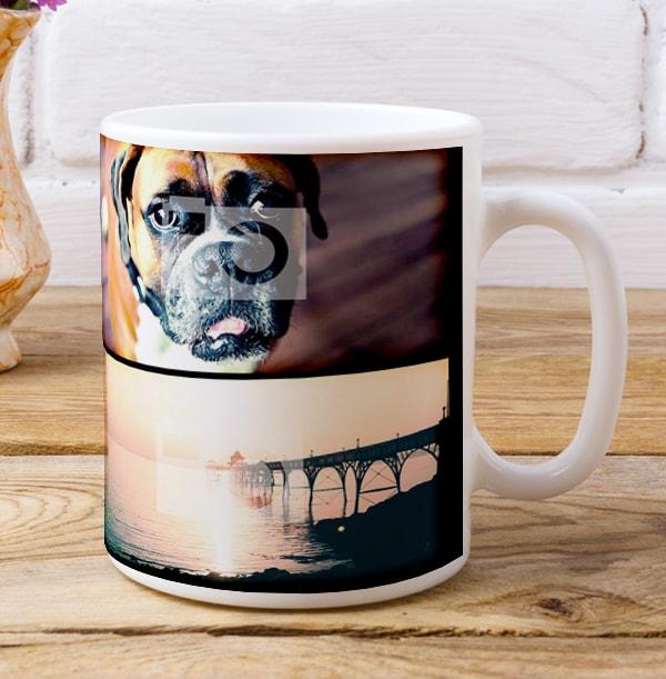 Personalised Multi Photo Mug With No Text