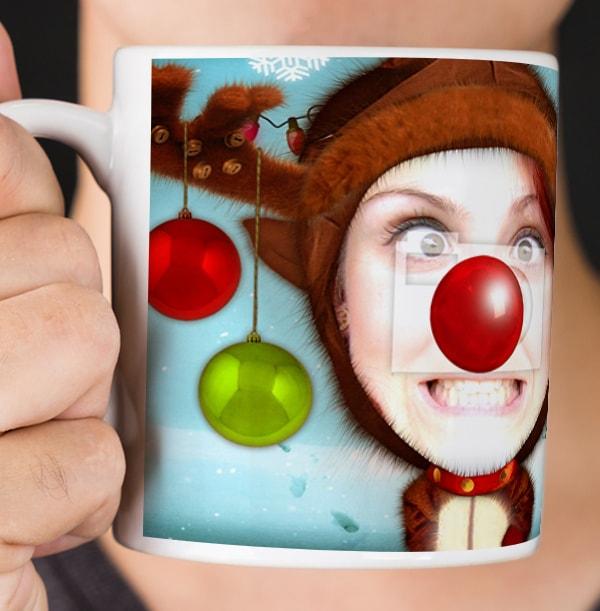 Rudolph Photo Upload Mug