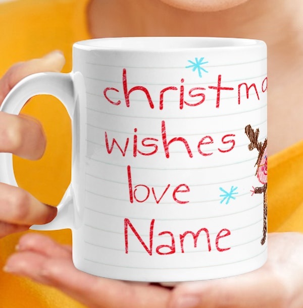 Christmas Wishes Photo Mug