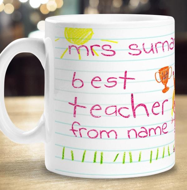 Personalised Best Teacher Mug - Photo Upload