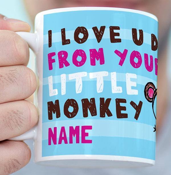 Personalised Photo Upload Monkey Mug