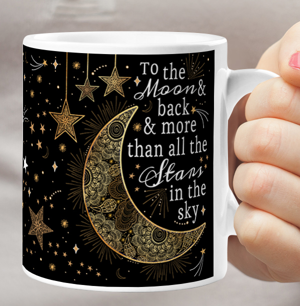 Love You to the Moon and Back Mum Photo Mug