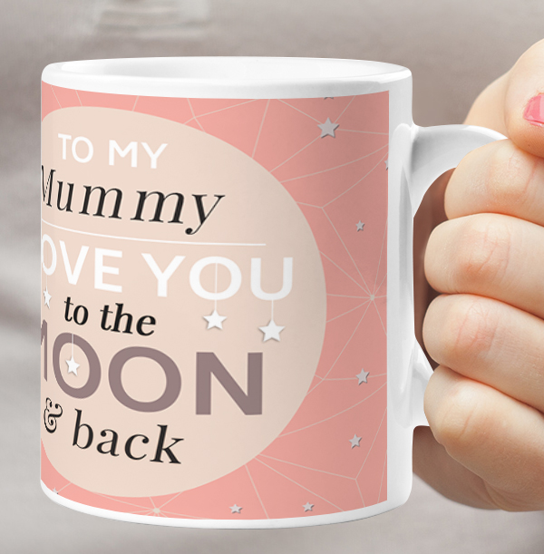 Mummy Love You To The Moon Photo Mug