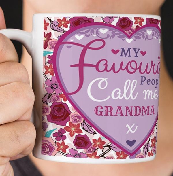 My Favourite People Call Me Grandma Mug