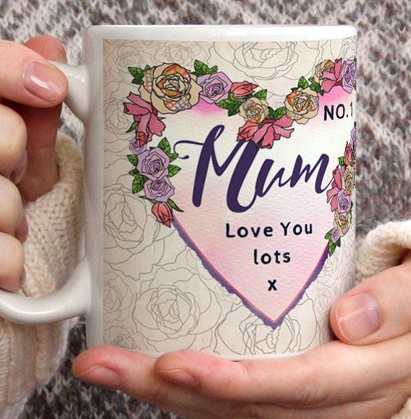 Floral Number 1 Mum Personalised Mug
