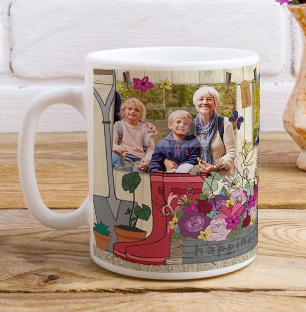 Grandma Gardening Personalised Mug