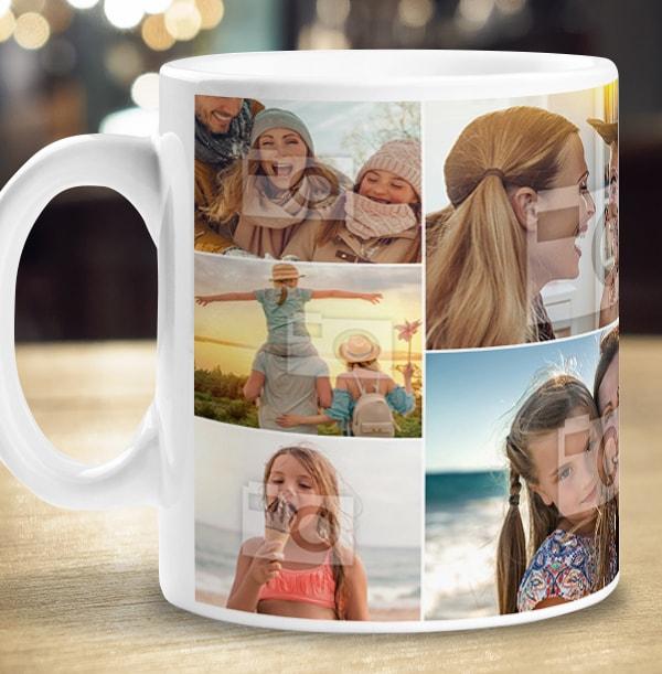 10 Photos Collage Mug